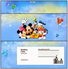 Mickey y sus amigos: etiquetas para chocolate.Mira estas etiquetas para chocolates para imprimir gratis para tusFiestas de Mickey Mouse y sus amigos.