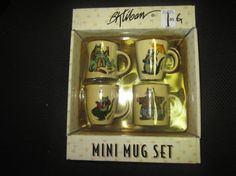 B. Kliban Cat Porcelain Mini Mug Set  NIB Set by kookykitsch, $20.00
