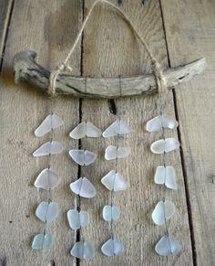 Sea Glass Mobile / Beach Glass Mobile / Suncatcher by BarnWoodArt