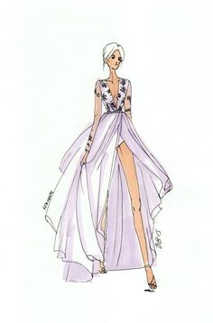 Wedding gowns are perfect for promarkers! #fashionillustration #casabignami #wedding
