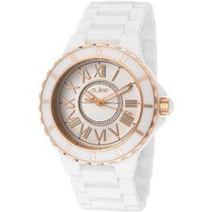 Women's Marina Silver Dial Rose Gold Accents White Ceramic Al-20040-wwwrr Watch
