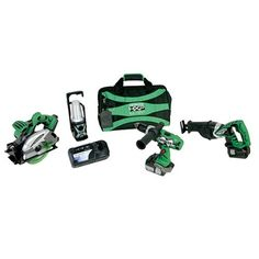 Save $ 74.01 order now Hitachi KC18DBL 4-Tool Lithium-Ion Combo Kit at Power Too