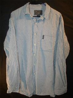 Mens Abercrombie & Fitch Large Blue Button Down Up Dress Shirt Long Sleeve