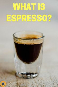 """Espresso is not really much different from the coffee you buy from the store before you brew it. The difference comes in how exactly it is brewed. At the most basic level, espresso is a """"shot"""" of coffee that is """"pulled"""" by forcing pressurized water throug Espresso Recipes, Espresso Drinks, Espresso Coffee, Coffee Recipes, Coffee Drinks, Coffee Shot, Little's Coffee, Coffee Break, Morning Coffee"""
