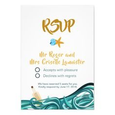 Beautiful beach wedding invitation design wedding invitations beach rsvp card customizable invitations beach summer wedding invitation stopboris Images