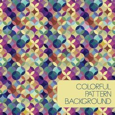 Colorful Pattern Background. #colorful #pattern #background