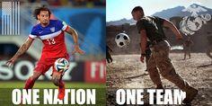 Ooh-rah, U.S. Soccer Team! #OneNationOneTeam #USMNT #AreYouReady #WorldCup2014 #1N1T
