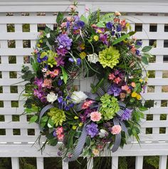 XXL Spring Summer Wreath For Front Door Hydrangea by RedBarnWreath, $209.99