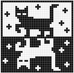61 Ideas for crochet cat pattern fair isles Tapestry Crochet Patterns, Crochet Cat Pattern, Fair Isle Knitting Patterns, Knitting Charts, Loom Patterns, Knitting Stitches, Free Pattern, Filet Crochet Charts, Cross Stitch Charts