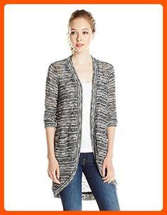 Splendid Women's Upstate Loose Knit Cardigan, Black, Large - All about women (*Amazon Partner-Link)
