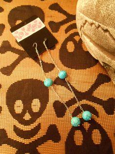 Blue Balls Earrings