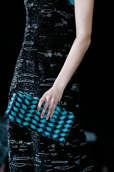 The clutch at Armani