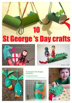 10 crafts for St George's Day St George S Day, George Kids, Spring Activities, Preschool Activities, Diy Crafts To Do, Crafts For Kids, Cub Scout Crafts, Saint George And The Dragon, Dragon Kid