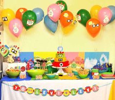 There's a Party in my Tummy – Yo Gabba Gabba Party Ideas  #yogabbagabba #party #decorations #birthdayparty