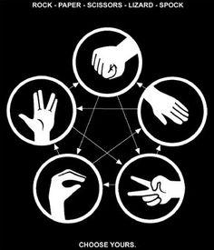 Piedra, papel, tijera, lagarto, spock.