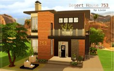Sims 4 Houses and Lots: Contemporary Desert House