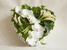 funeral flower arrangements - heart of love Deco Floral, Arte Floral, Grave Decorations, Flower Decorations, Funeral Floral Arrangements, Flower Arrangements, Funeral Flowers, Wedding Flowers, Funeral Sprays