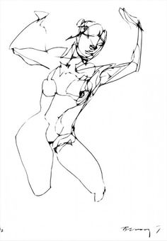 Rick Berry, gestural figure drawing