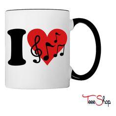 I love Music - Notes Coffee & Tea Mug