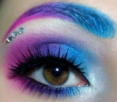 white blue purple and pink eyeshadow