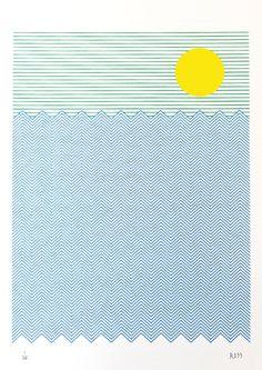 Stu Ross Tropical Sea Print Club London Screen Print