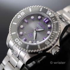 Invicta Pro Diver 47mm Grand Diver Charcoal Purple Accent Automatic Watch