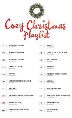 Cozy Christmas Playlist  from West Coast Capri blog