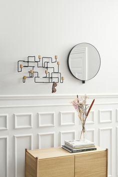 Kollake mirror, Underground coat rack and Sceene bookshelf