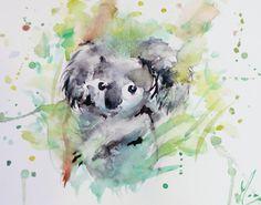 "koalalibre: ""My Watercolor of Koala """