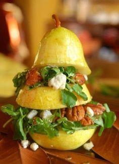 Pear gorgonzola pecan salad...YUM!