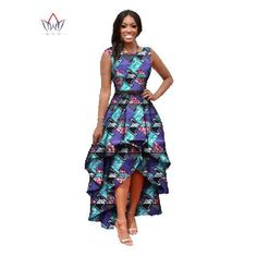 Online Shop African Clothes For Women O-neck African Dashiki Dresses Cotton Dress Sleeveless African Print Dress Big Size Natural African Fashion Designers, African Fashion Dresses, African Attire, African Clothes, Fashion Outfits, Big Size Dress, The Dress, African Dashiki Dress, Vestidos High Low
