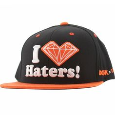 DGK x Diamond Supply Co Haters Snapback Cap (black / orange) DH302BOG - $39.99