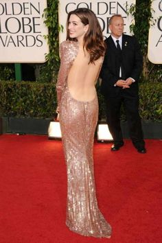 Anne Hathaway in sizzling Armani