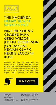 FAC51 Brit Pop, Factory Records, Peter Saville, Ticket Design, Post Punk, Graphic Patterns, Manchester, Indie, Typography