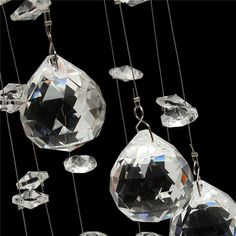 3W LED Crystal Ceiling Light Small Chandelier Ceiling Lamp Pendant Light Hallway Home Decor is Retro-NewChic Mobile