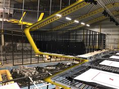 Installation tour guide: And on the right, you can see some High-performance Trampolines and a Dodge Ball area. On the left side – tones of foams, obviously for the Foam Pits. Also, up there on your left, you can see some Regular Trampolines. www.playmart.eu - Entertaining the World #playmart #playgrounds #indoorplayground #activities #fun #trampoline #trampolinepark #adventureplay #iPlayCO #PlayMartInternational