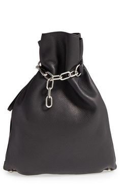 Alexander Wang 'Attica' Chain & Leather Gymsack Backpack