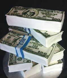 money cake by kickass kakes, via Flickr