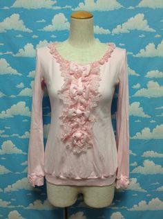 Ribbon Jabot Cutsew in Pink from Angelic Pretty - Lolita Desu