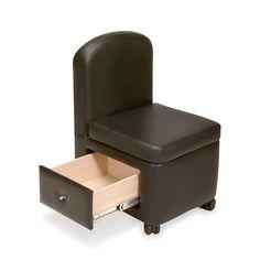 Veeco AR-G009 Spa Pedicure Stool w/ Storage