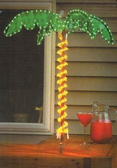 30 Tropical Lighted Holographic Rope Light Outdoor Palm Tree Yard Decoration * You can find more details by visiting the image link.  This link participates in Amazon Service LLC Associates Program, a program designed to let participant earn advertising fees by advertising and linking to Amazon.com.