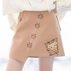 Mori Clothing Midskirt on Mori Girl の森ガール.Mori Nifty Mouse High Cut Midskirt Cute Cartoon Skirt make you more charming in the date .