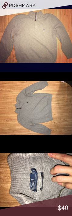Ralph Lauren Polo Sweater Lightweight and comfortable! Great for a date night. Kept in great condition! Ask for more questions or pictures! Polo by Ralph Lauren Sweaters Zip Up