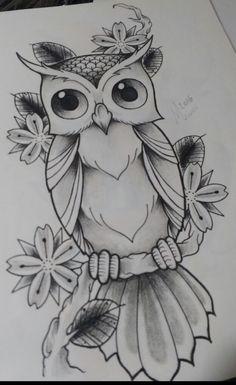 New Bird Tattoo Design Sketches Tatoo Ideas Cool Art Drawings, Pencil Art Drawings, Bird Drawings, Art Drawings Sketches, Easy Drawings, Animal Drawings, Owl Tattoo Drawings, Owl Tattoos, Cute Owl Drawing