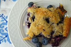 This Lazy Day Blueberry Cobbler is easy and delicious! Perfect to top of a summer evening with friends.