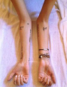 Little arm tattoo- placement Neue Tattoos, Word Tattoos, Body Art Tattoos, Small Tattoos, Tatoos, Danty Tattoos, Arm Quote Tattoos, Random Tattoos, Tumblr Tattoo