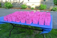 Favors. Packets of sweet tea mix. BBQ bridal shower