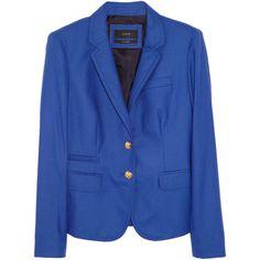 J.Crew Schoolboy wool-twill blazer ($198) ❤ liked on Polyvore