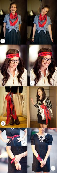 DIY scarf, how to wear a scarf  #ParkerEtc  Photos - eric ryan anderson