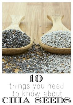 What's so great about chia seeds? Are they really as healthy as some people say they are? Read on to learn about chia seeds and how they're good for you. 10 Things You Need to Know About Chia Seeds via @tipsaholic.com #chiaseeds #healthy #health #seeds #protien